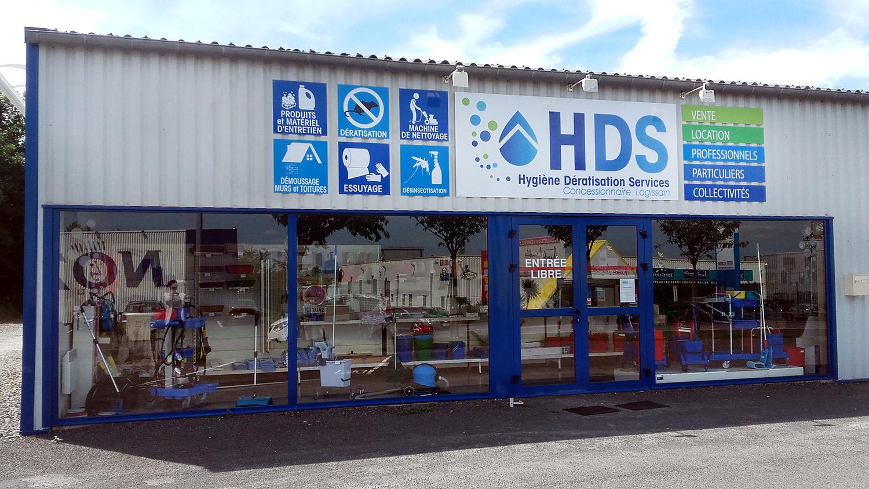 facade magasin hds 50 saint lo
