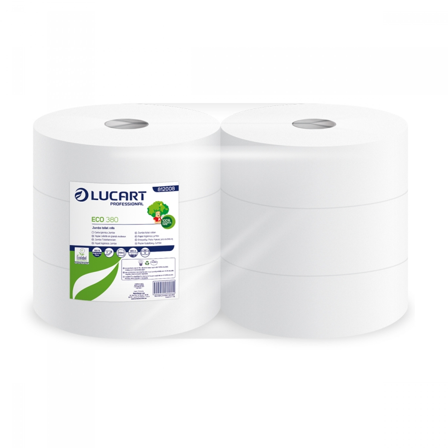 Papier toilette Jumbo ECO LUCART 380m (réf: 812008) Image