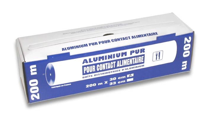 Aluminium pur 11microns contact alimentaire Image