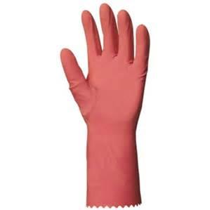 Gant de ménage rose à l