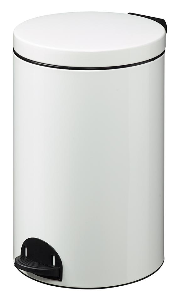 Poubelle SANELIA à pédale 20L Blanc Signalisation Image