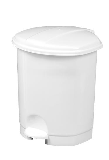 Poubelle PRIMA à pédale 5L Blanc (Référence : 91150) Image