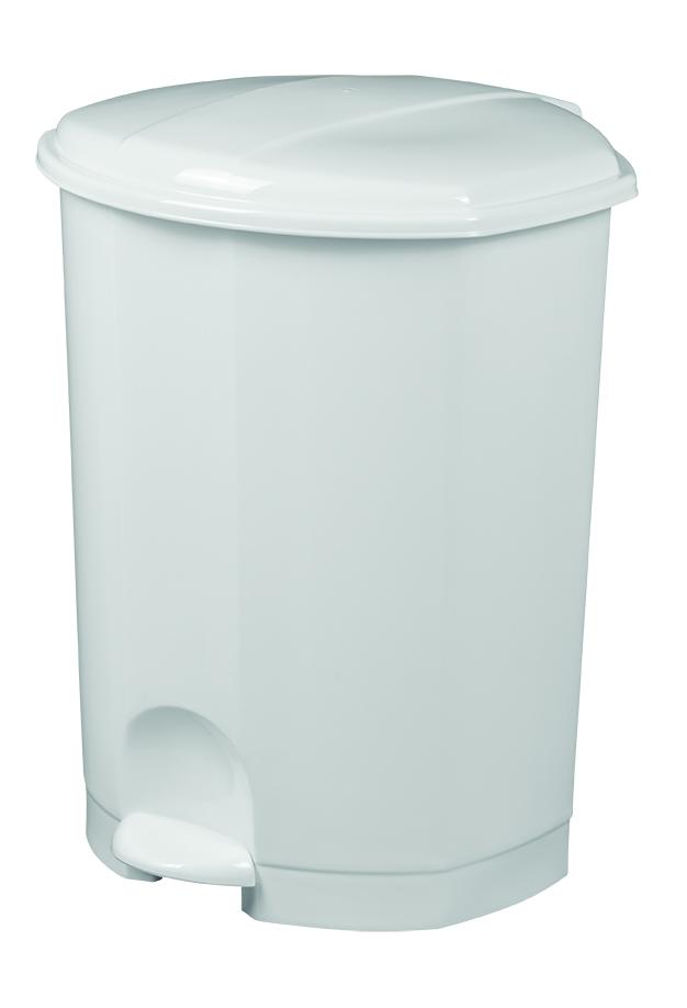 Poubelle PRIMA à pédale 30L Blanc Image